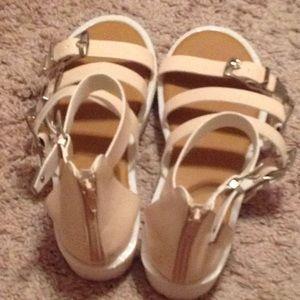 Soft baby pink adjustable strap sandals
